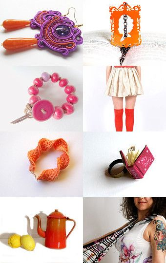 orange and violet by alessandra zoppelli on Etsy--Pinned with TreasuryPin.com