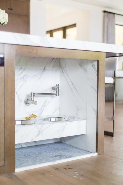 Customize A Pet Food Station In Your Kitchen Island Nook With A