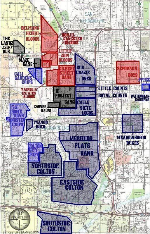 San Bernardino Gang Map BIG MIKE (mikehenry685) on Pinterest