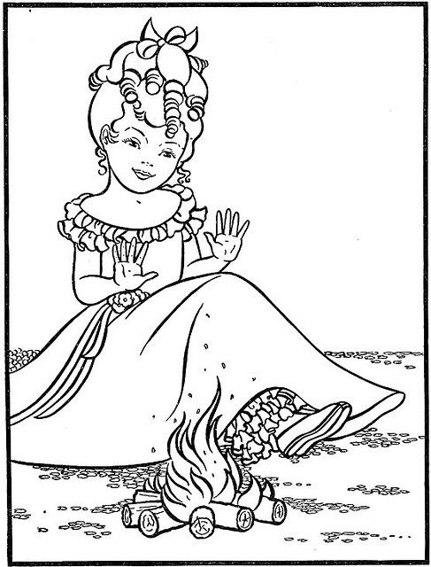 vintage coloring pages of children - photo#43