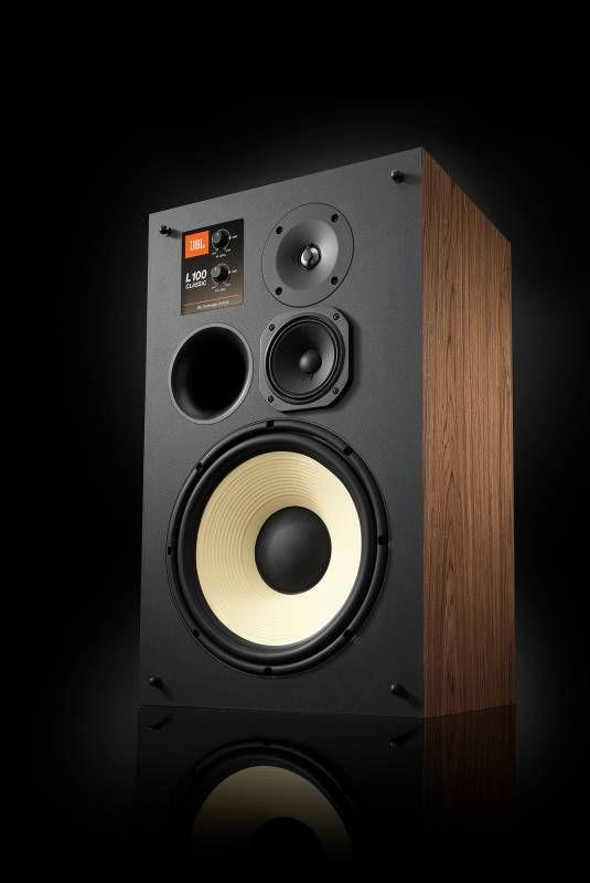 The Jbl L100 Classic Returns Looking As Modern As Ever Design Milk Vintage Speakers Jbl Speakers Loudspeaker Jbl