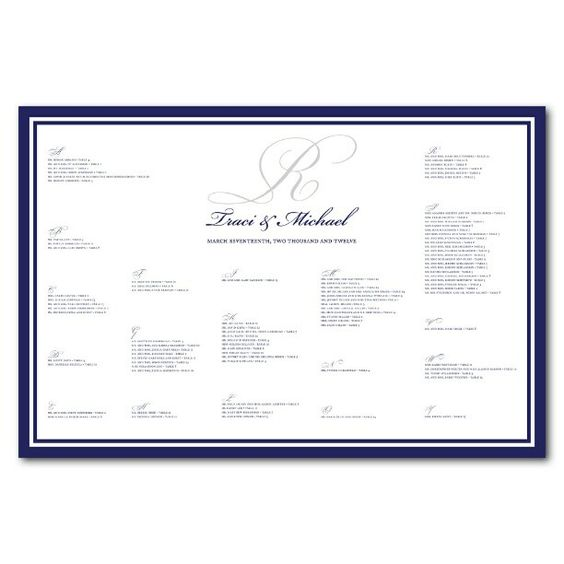 Wedding Seating Chart for Traci B - @jujubeedesign- #webstagram