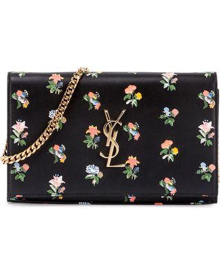 yve saint laurent purse - Yves Saint Laurent Monogram Prairie Flower Printed Wallet-on-Chain ...