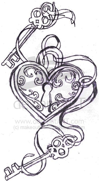 Tattoo inspiration maybe??  I like this a lot other than the base of the keys remind me of skull heads