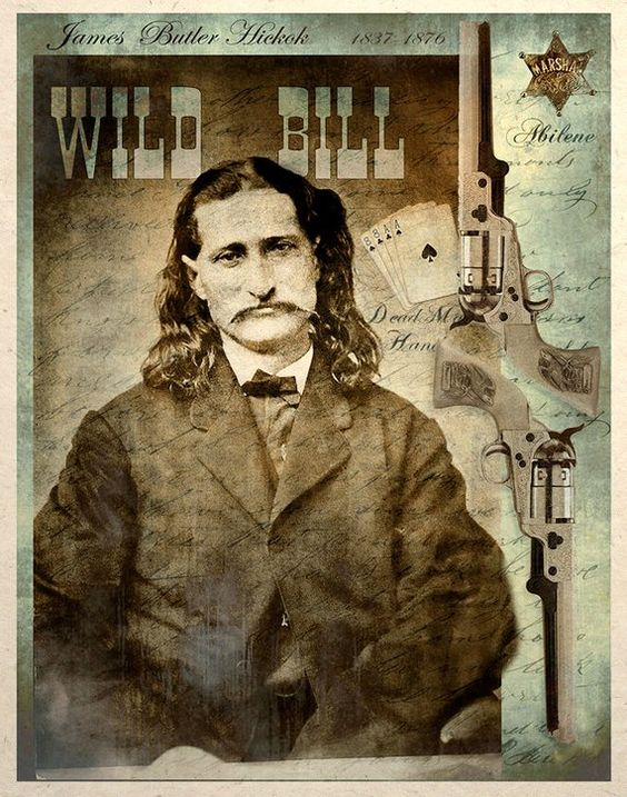 Old West Art Print Wild Bill Hickok Dead Mans Hand