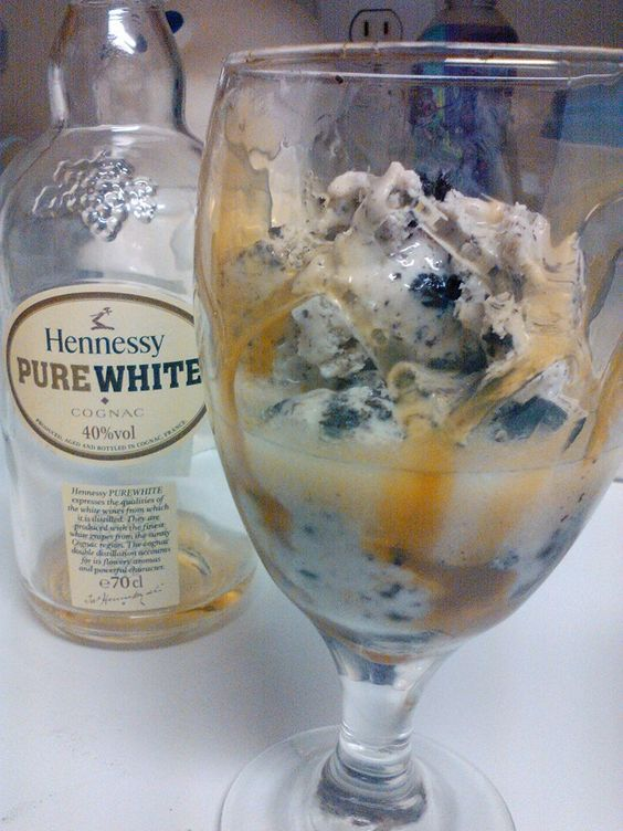 Cookies and Cream Ice Cream White Hennessy and Carmel
