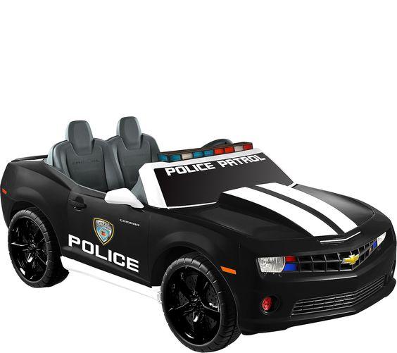 Kid Motorz Black Chevrolet Camaro Police Edition Two Seater Qvc Com Toy Cars For Kids Chevrolet Camaro Camaro