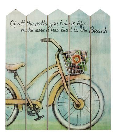 Look What I Found On Zulily Bicycle Fence Wood Wall Sign