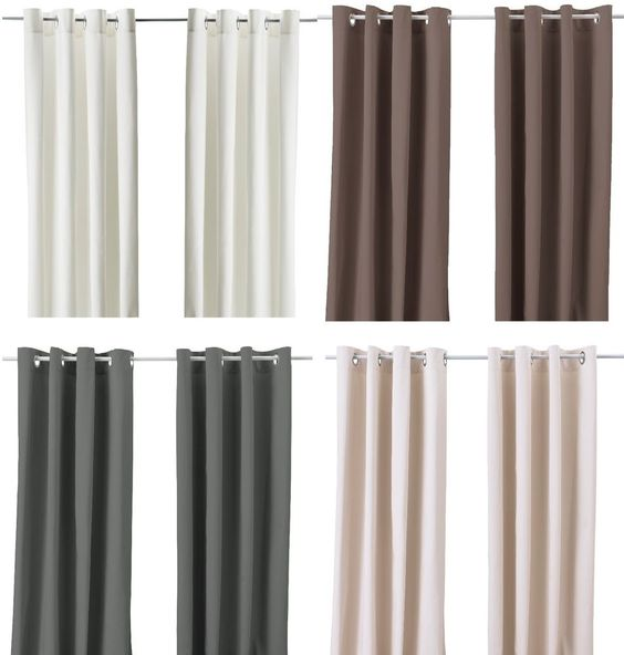 Curtains Ideas beige and brown curtains : Details about Ikea MERETE Pair of Curtains 2 panels Brown Purple ...