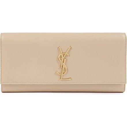 y san loren borse - SAINT LAURENT Cassandre leather clutch (Nude powder) | Bags of ...