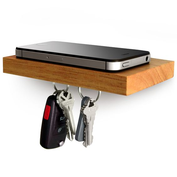 Plank Shelf For Phone and keys