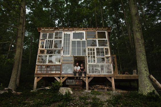 Charming Cabin Built for $500 with Repurposed Windows - My Modern Metropolis