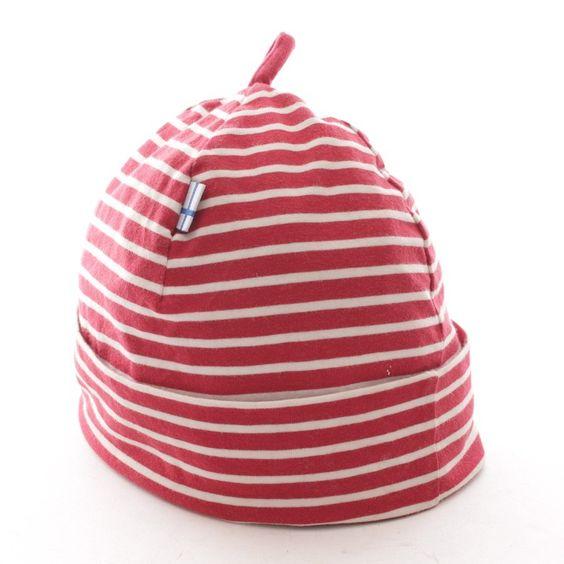 Sehr schöne Mütze von Finkid in Rot Weiß Gr. M - wie neu!