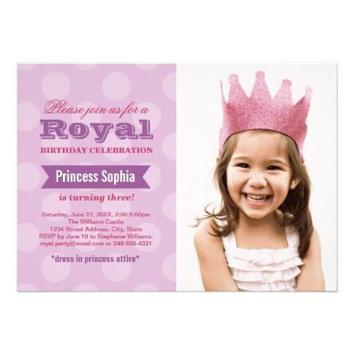 Photo Birthday Party Invitation | Purple Princess