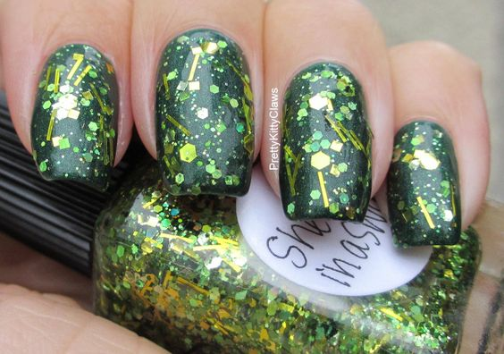 Lynnderella She Lived In A Swamp over OPI Here Today Aragon Tomorrow Suede