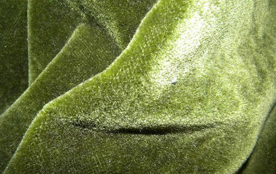 Stunning Antique Dark Bottle Green Silk Mohair Velvet by RuinsCa, $59.00