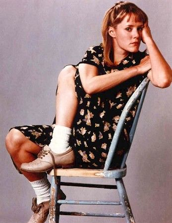 Joon (Mary Stuart Masterson) from the 1993 film Benny and Joon. I love her shoes, they're so cute :)