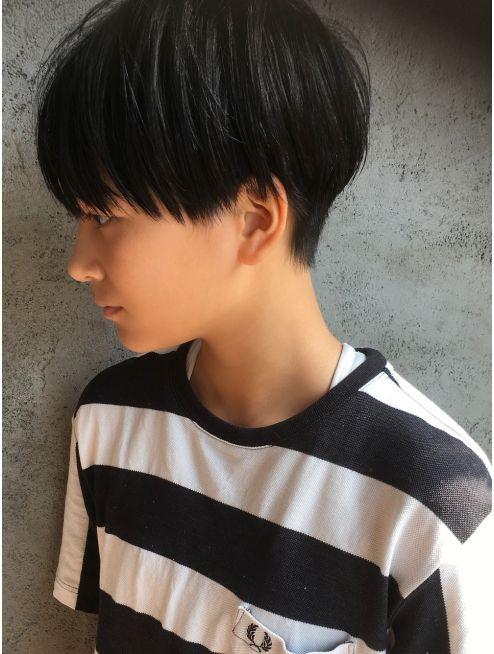 透明感ショートボブ 黒髪ナチュラル L019929010 ルーク Luke のヘア