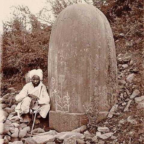 1910 :: Colossal #Shivalinga In Baramulla , Kashmir (Photo - ASI ...