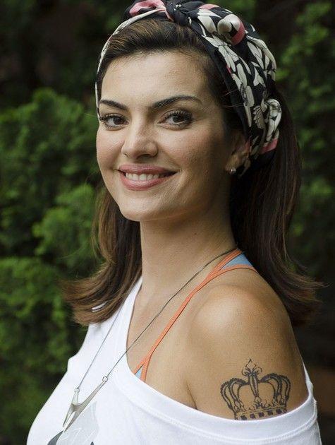 Mayana Neiva com o visual da maquiadora Charlene de Souza, em Sangue bom (Foto: TV Globo/ Bob Paulino)