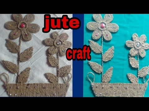 Diy Jute Wall Hanging Jute Craft Idea Jute Wall Decor Best Out Of Waste Youtube Jute Crafts Crafts Wall Hanging