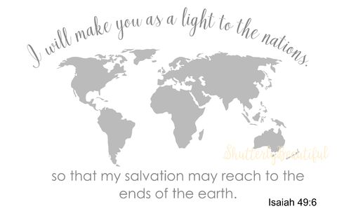 Isaiah 49:6 Adhesive Paint Stencil