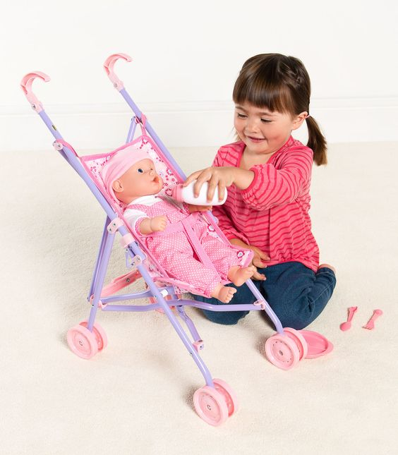 Little Belle 38cm Magical Drink & Wet Baby with Stroller & Accessories | Kiddicare: Hair Models, Accessories Kiddicare, Buzzing Brains, Belle 38Cm, Baby, Brains Toys, Magical Drink, 38Cm Magical