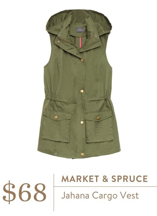 Market & Spruce Jahana Cargo Vest in olive green $68. Ashley does this come in any other colors? Would love it in grey