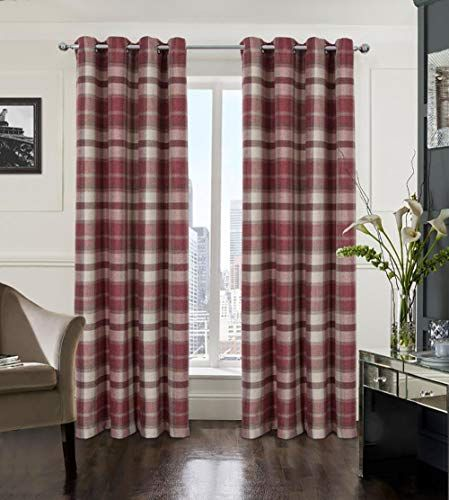 Country Plaid Curtains Curtains Living Room Living Room Red Living Room Grey