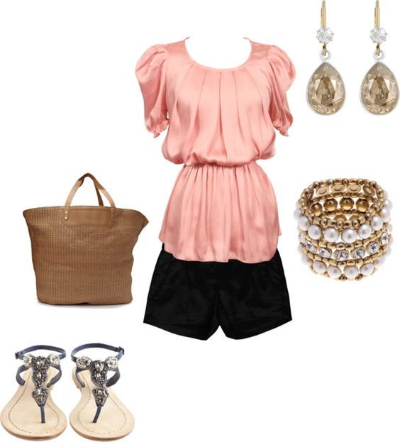 coral summer, created by ecwrenn on Polyvore