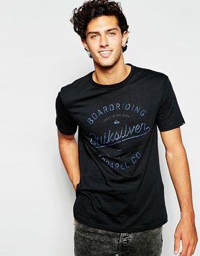 Quiksilver T-Shirt with Boarding Apparel Print