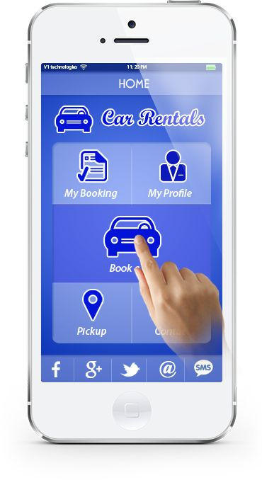 Below are the screenshots of the #CarHire #App as it would look and feel on your customer's mobiles.