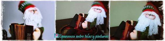 Santa Claus con acordeón