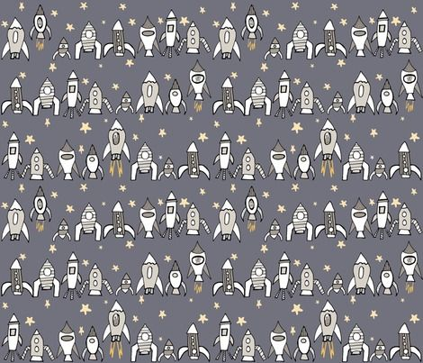 Spoonflower Fabric of the week voting: Rockets