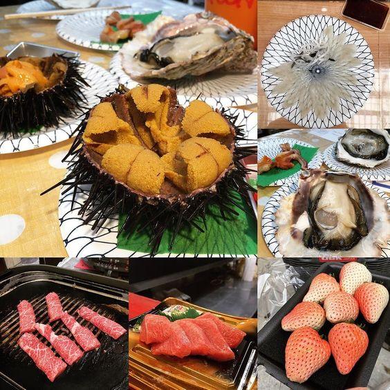 即開海膽 百二蚊粒 #seaurchin #beef #toro #strawberry #lunch by vivichauu