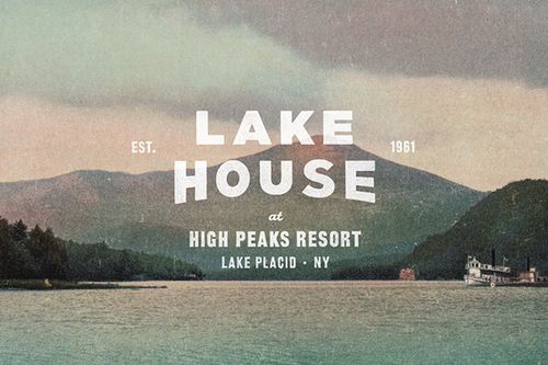 The Lake House branding