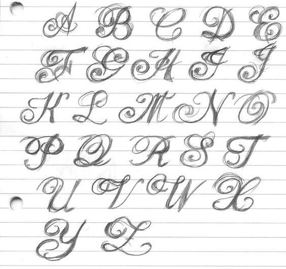 initialen kursive buchstaben and lettering on pinterest. Black Bedroom Furniture Sets. Home Design Ideas