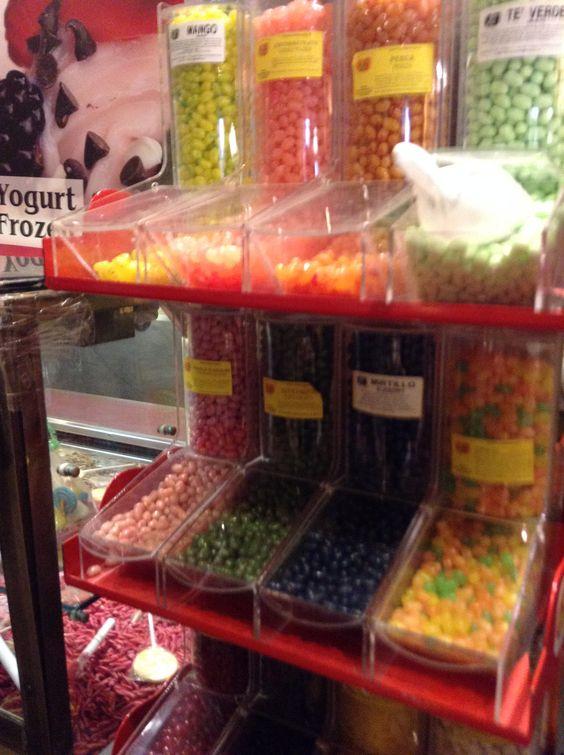 Jelly Belly a volonté à Rome chez un marchand de glace avec 150 parfums !!!!!