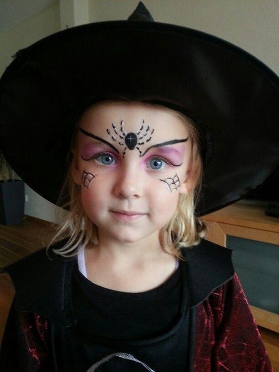 رسم على الوجه للأطفال لحفلات الهالوين Easy Halloween Face Paint Ideas For Kids 2019 Kinder Schminken Hexe Schminken Hexe Schminken Kind
