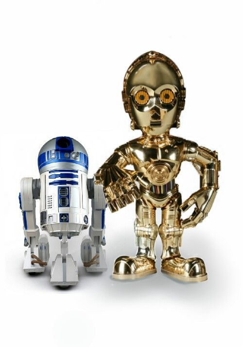 Mini C3PO and R2D2 Star Wars