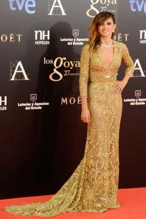 Goya Toledo in Elie Saab Haute Couture A/W 2013 at the 2013 Goya Cinema Awards, February 2013