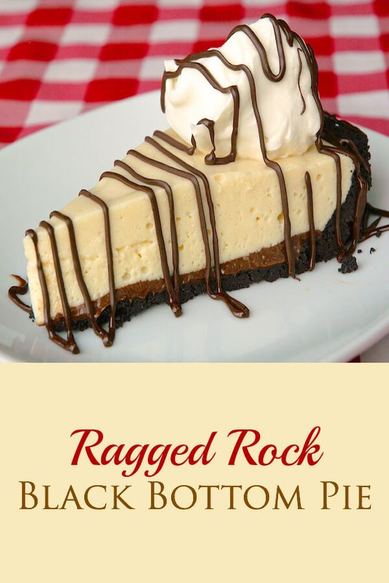 Ragged Rock Black Bottom Pie - A delicious chocolate custard bottom ...