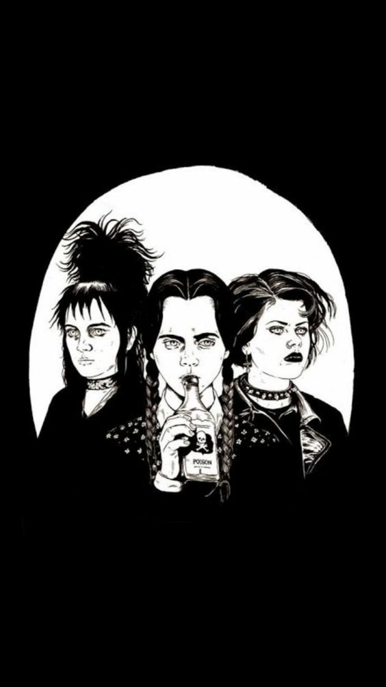 Lydia Deetz, Wednesday Adams, and Nancy Downs.