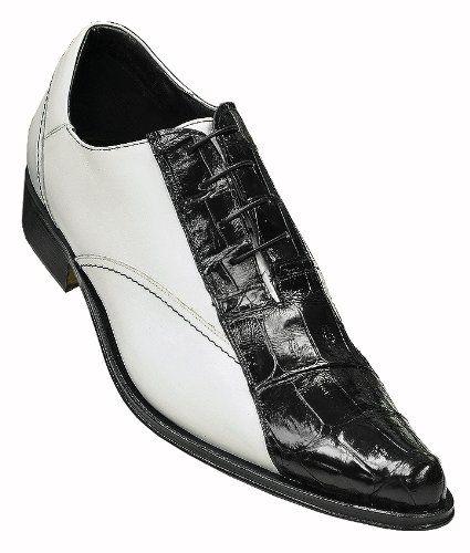 "buy celine purse online - $499.00 Mauri ""750/1' Black / White Genuine Crocodile Pointed Toe ..."