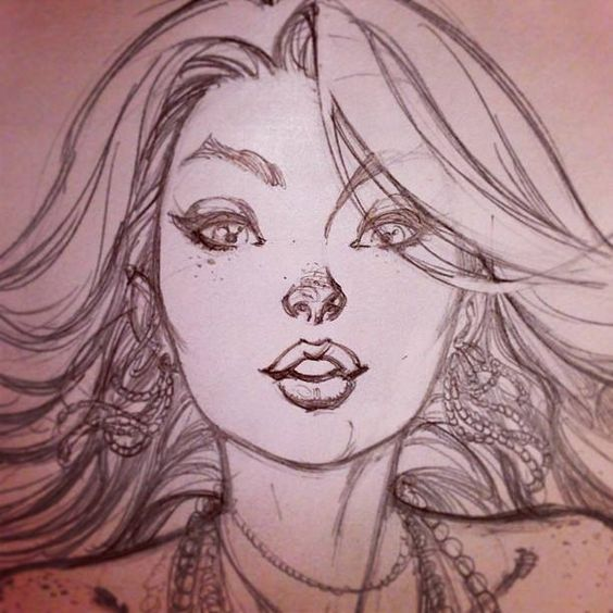 Female Character Pencil Draft
