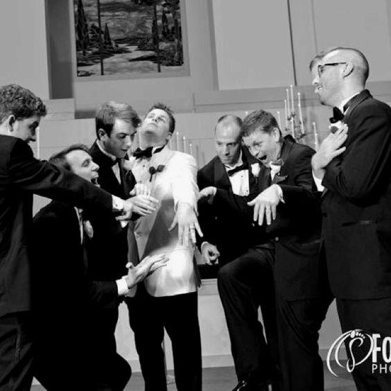 The men admiring the bling