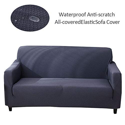 Shzons Sofa Cover Solid Color Elastic