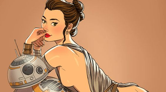 9 'Star Wars' Characters Reimagined As Pinup Girls - Stormtroopers never looked so sexy.