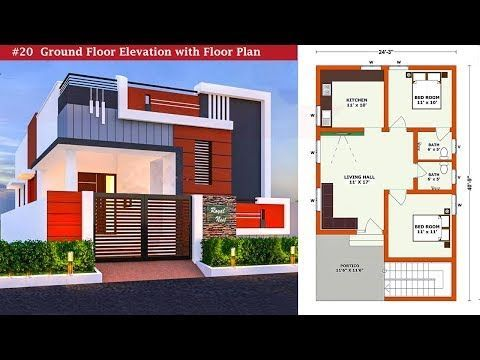 20 Small House Elevation With Floor Plan Ground Floor Elevation Single Floor Elevation Youtube Small House Elevation House Elevation Floor Plans