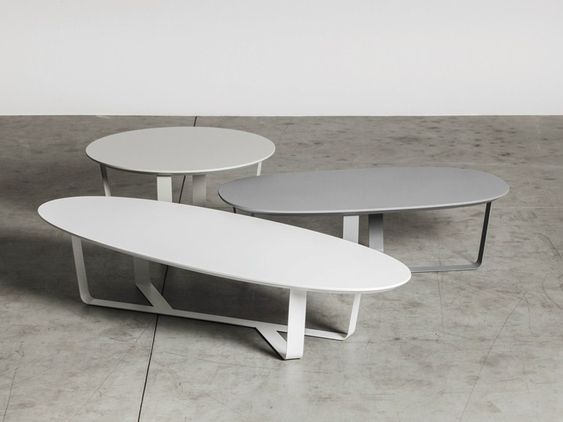 BINO Oval coffee table Steel coffee table, Oval coffee tables - moderner runder glasesstisch ac molteni